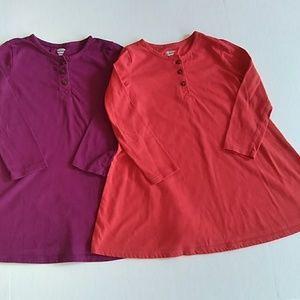 Old Navy Girls T-Shirt Dress LOT 2 Size 3T